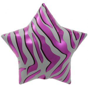 "Etoile Pink Zebra Stripes Star 22"" D4-01"