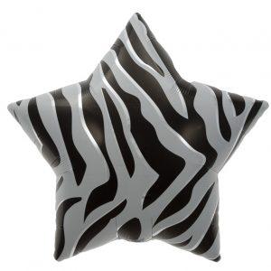 "Etoile Black Zebra Stripes Star 22"" D4-01"