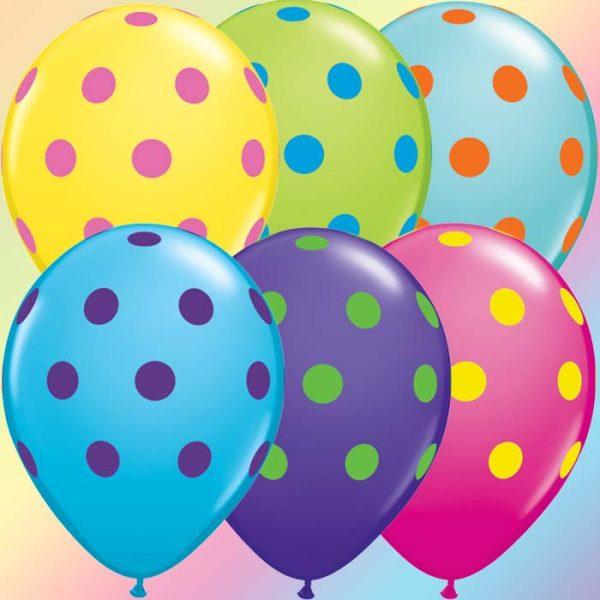 I11″ 10240 Big Polka Dots Colourful Assortment *50b