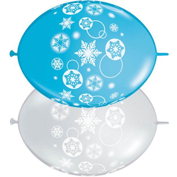 I12 11417 Quick-Link Snowflakes & Circles Robin's Egg & Diamond Clear *50b