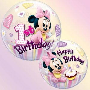 Bubble 22 12862 Minnie Mouse 1st Birthday *1b