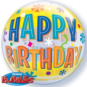 Bubble 22″ 16657 Birthday Fun & Yellow Bands *1b