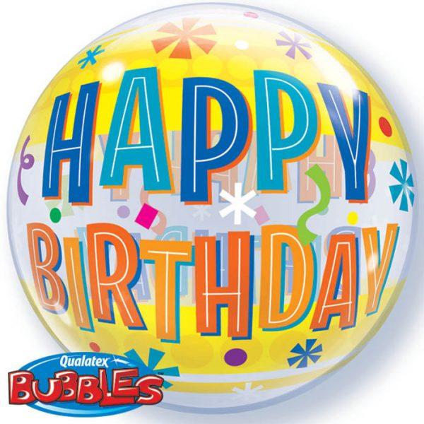 Bubble 22″ 16657 Birthday Fun & Yellow Bands *1b