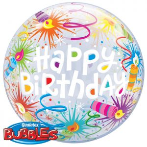 Bubble 22 16658 Birthday Lit Candles *1b