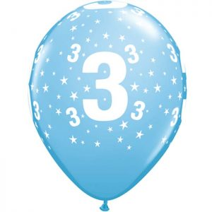 I11″ 17832 Chiffre 3 Bleu Ciel *6b