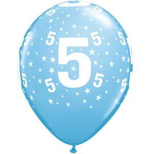 I11″ 17843 Chiffre 5 Bleu Ciel *6b