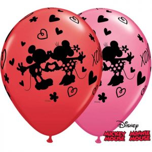 I11″ 23187 Mickey & Minnie XoXo Red & Rose *25b