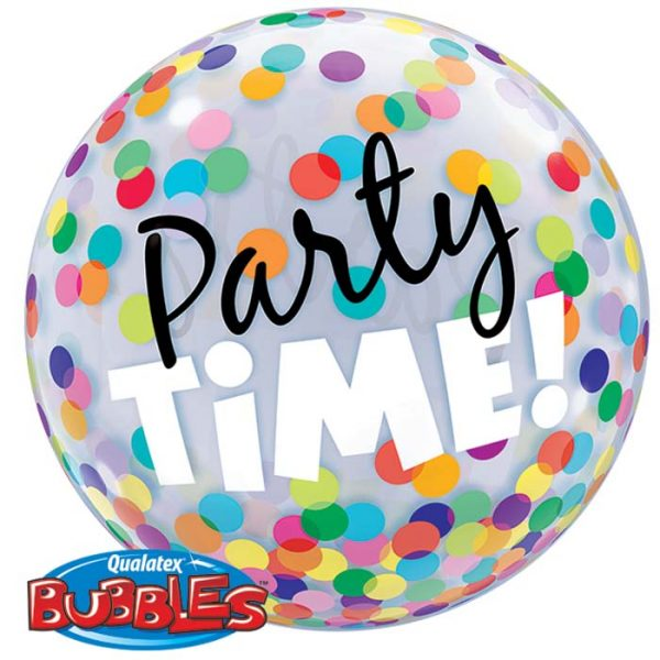Bubble 22″ 23636 Party Time! Colourful Dots *1b