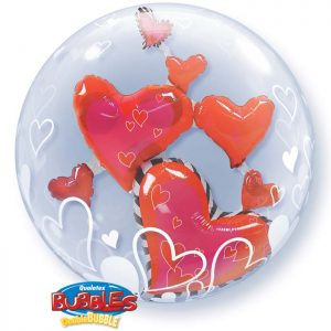 Bubble 24″ 68808 Lovely Floating Hearts *1b