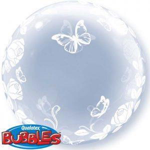"Bubble 24"" 29718 Elegant Roses & Butterflies *1b"