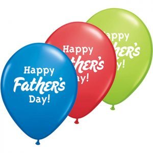 I11″ 24362 Happy Father's Day! Asst Dark Blue, Red & Lime Green *25b