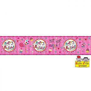 Banner HAPPY BIRTHDAY Perfect Pink * 1ct Ref : 25015
