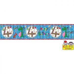 Banner 4 Dinosaur * 1ct Ref : 25024