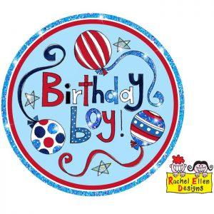 Badge Birthday Boy * 1ct Ref : 25791