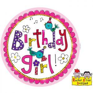 Badge Birthday Girl * 1ct Ref : 25795