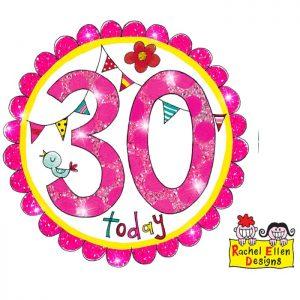 Badge 30 Perfect Pink * 1ct Ref : 25829