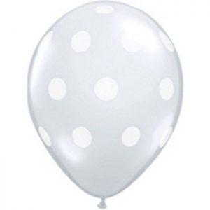 5 25873 Big Polka dots Transparent * 100b