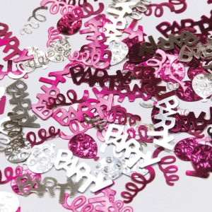 Confetti Party Swirl Rose et argent 12g *6 sachets Ref : 27209