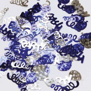 Confetti Party Swirl Bleu et argent 12g *6 sachets Ref : 27450
