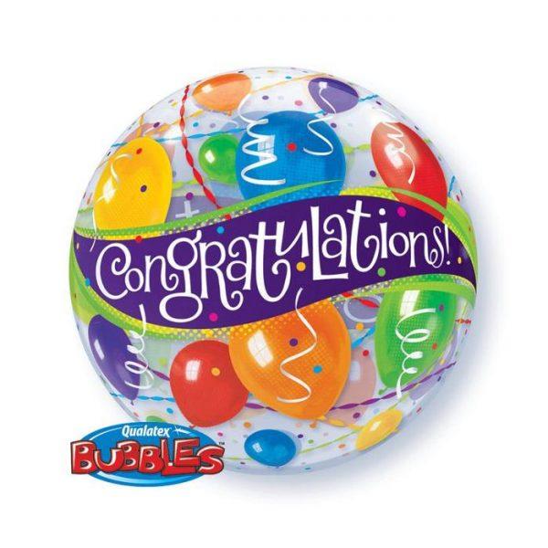 Bubble 22″ 27564 Congratulations Balloons *1b