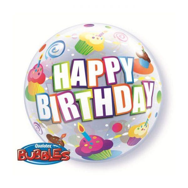 Bubble 22 Birthday Colourful Cupcakes * 1b