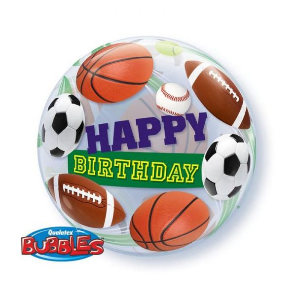 Bubble 22 Birthday Sport Balls * 1b