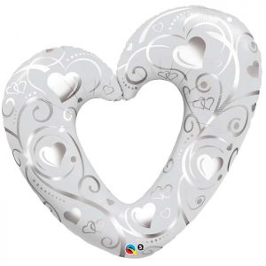 M14″ 40352 Hearts et Filigree Pearl White* 1b