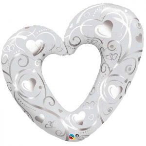 M42 16304 Hearts & Filigree Pearl White *1b
