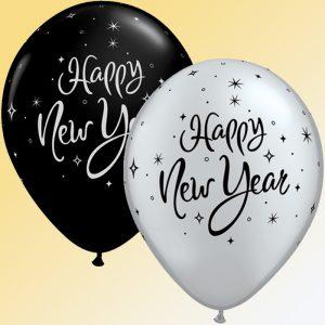 i11 40905 New Year Sparkle Noir & Silver *50b