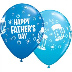 I11″ 42691 Father's Day Beer Mug Asst Dark Blue & Robin *25b