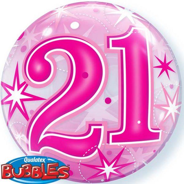 Bubble 22″ 43123 CH21 Pink Starburst Sparkle *1b