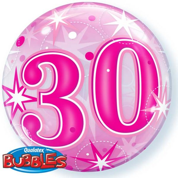 Bubble 22″ 43124 CH30 Pink Starburst Sparkle *1b