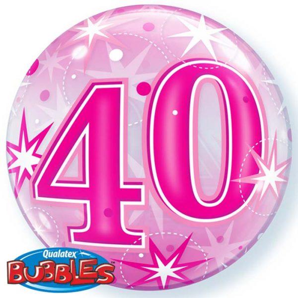 Bubble 22″ 43125 CH40 Pink Starburst Sparkle *1b