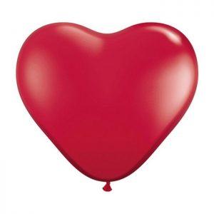 """Cœur 6"""" 43647 Ruby Red *100b"""