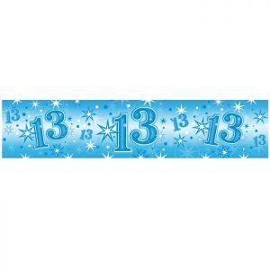 Foil Banner 45565 Age 13 Blue Sparkle *1ct
