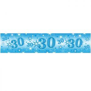 Foil Banner 45570 Age 30 Blue Sparkle *1ct