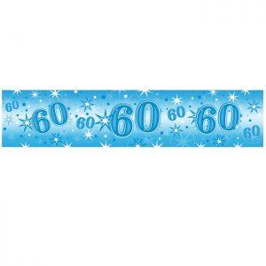Foil Banner 45573 Age 60 Blue Sparkle *1ct
