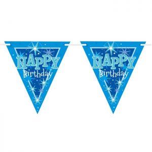 Guirlande Drapeaux 45575 Happy Birthday Ble Sparkle *1ct