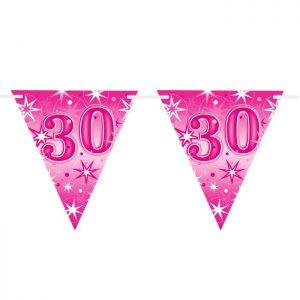 Guirlande Drapeaux 45581 Age 30 Pink Sparkle *1ct
