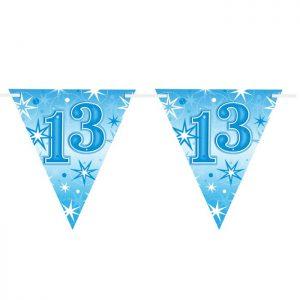 Guirlande Drapeaux 45585 Age 13 Blue Sparkle *1ct