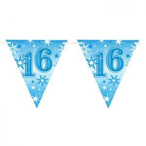Guirlande Drapeaux 45586 Age 16 Blue Sparkle *1ct