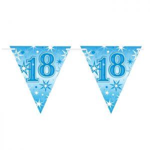 Guirlande Drapeaux 45587 Age 18 Blue Sparkle *1ct