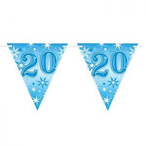 Guirlande Drapeaux 45599 Age 20 Blue Sparkle *1ct