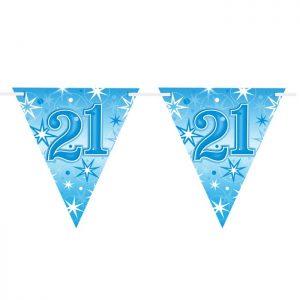 Guirlande Drapeaux 45605 Age 21 Blue Sparkle *1ct