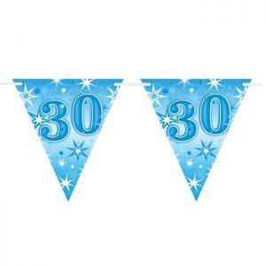 Guirlande Drapeaux 45610 Age 30 Blue Sparkle *1ct