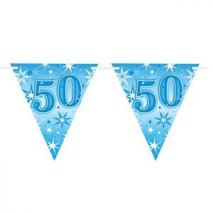Guirlande Drapeaux 45616 Age 50 Blue Sparkle *1ct