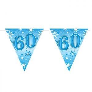 Guirlande Drapeaux 45618 Age 60 Blue Sparkle *1ct