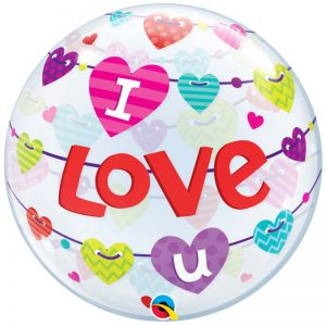 Bubble 22″ 46047 I Love You Banners Hearts *1b