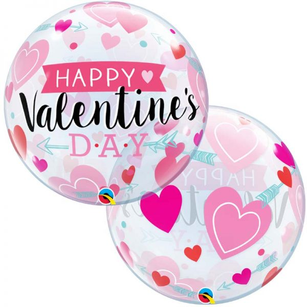 Bubble 22″ 46048 Valentine's Arrows & Hearts *1b