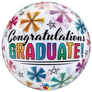"""Bubble 22"""" 47364 Congratulations Graduate & Stars *1b"""